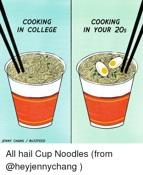 cooking in college jenny chang buzzfeed cooking in your 20s 10096107 ✅ 25 best memes about cup noodle cup noodle memes,Noodle Memes