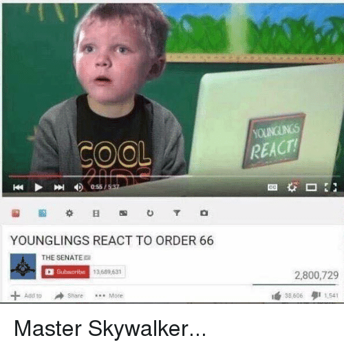 Younglings React To Order 66