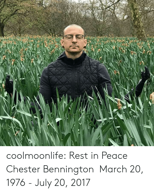 Tumblr, Blog, and Http: coolmoonlife:  Rest in Peace Chester Bennington  March 20,   1976 - July 20, 2017