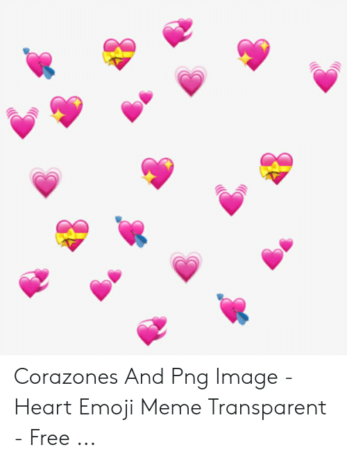 Corazones and Png Image - Heart Emoji Meme Transparent - Free