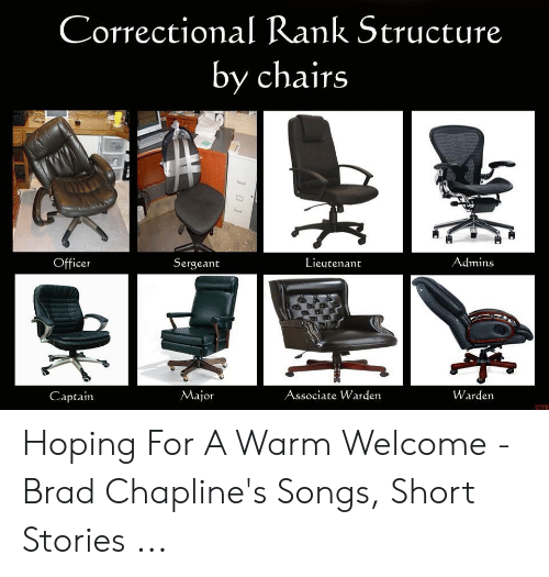 Correctional Rank Structure By Chairs Admins Lieutenant