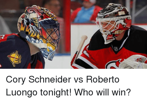 Cory Schneider Vs Roberto Luongo Tonight Who Will Win Hockey