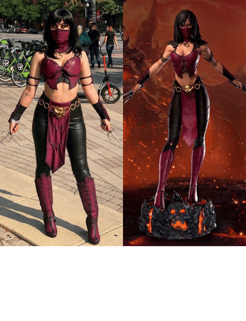 Cosplay Vs Character By Lissacosplay Mileena From Mortal Kombat X