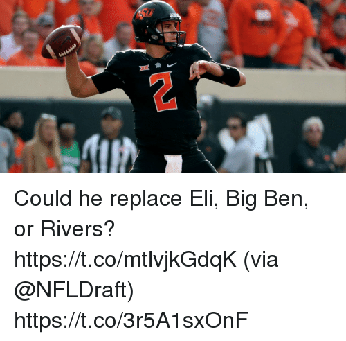 Memes, 🤖, and Big Ben: Could he replace Eli, Big Ben, or Rivers? https://t.co/mtlvjkGdqK (via @NFLDraft) https://t.co/3r5A1sxOnF