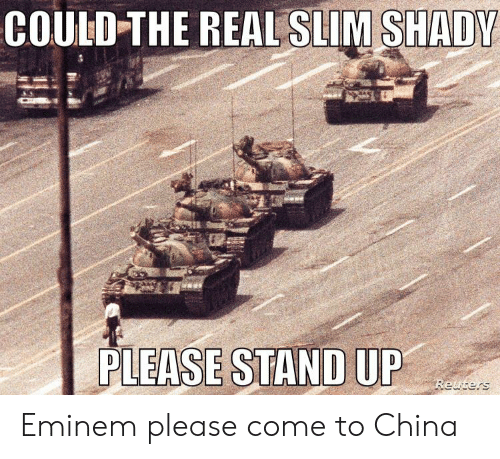 COULD-THE REAL SLIM SHADY PLEASE STAND UP Reuters Eminem