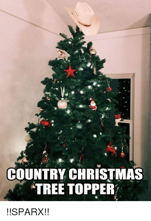 Country Christmas Tree Topper Sparx Meme On Me Me