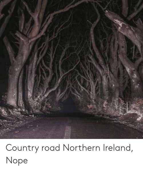 Ireland, Nope, and Northern Ireland: Country road Northern Ireland, Nope