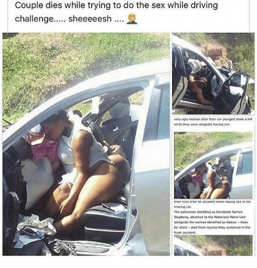 Sex in the car while driving