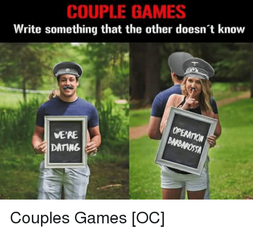 Dating games for couple