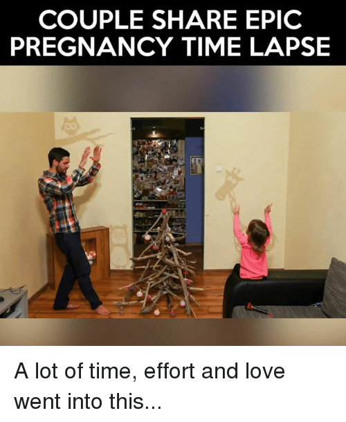 Memes, Pregnancy, and 🤖: COUPLE SHARE EPIC  PREGNANCY TIME LAPSE A lot of time, effort and love went into this...