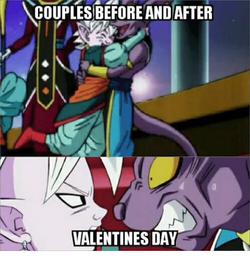Memes, Valentine's Day, and 🤖: COUPLES BEFORE AND AFTER  VALENTINES DAY