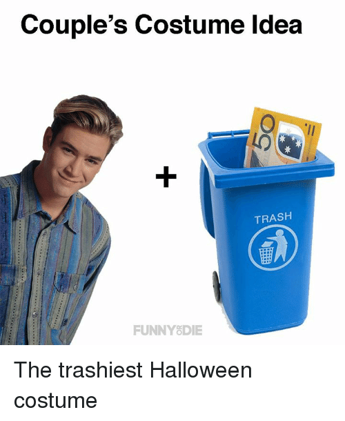 Halloween Costume 370.Couple S Costume Ldea Trash Funnyodie The Trashiest Halloween