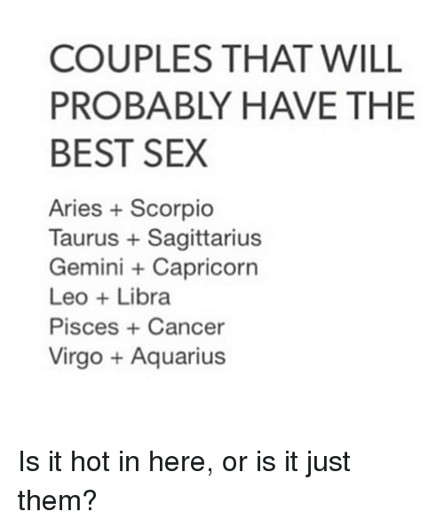 Taurus and aries sexually