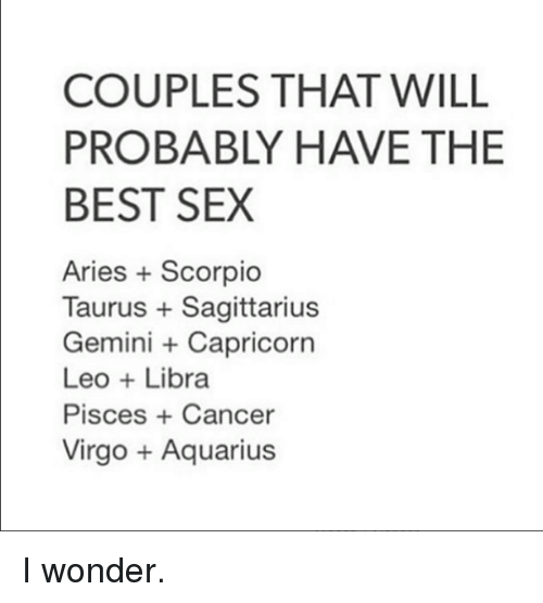 Libra aquarius sex