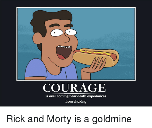 Rick Morty Hot Dog Courage