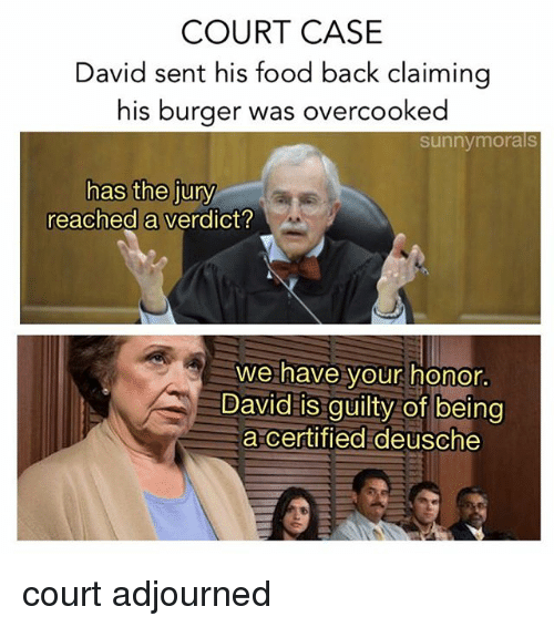 Food Memes And Back COURT CASE David Sent His Claiming