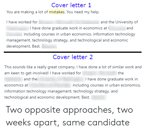 Cover Letter 1 You Are Making A Lot Of Mistakes Need My