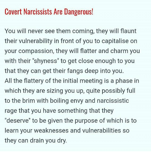 Covert narcissistic rage