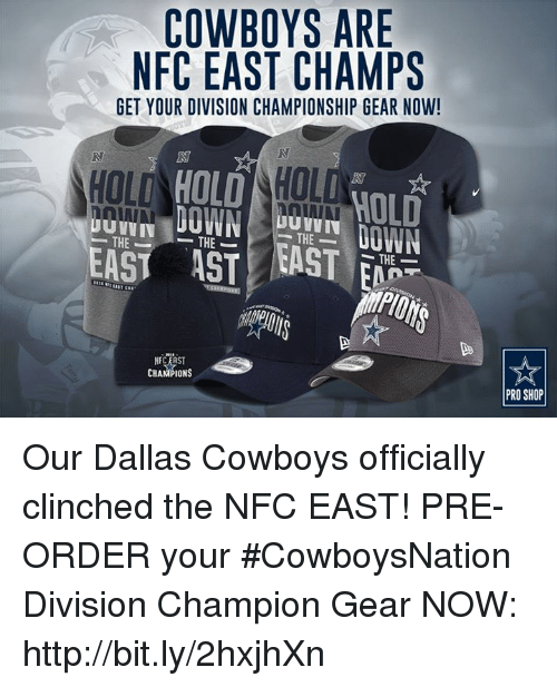 COWBOYS ARE NFC EAST CHAMPS GET YOUR DIVISION CHAMPIONSHIP GEAR NOW ... c613d86ed