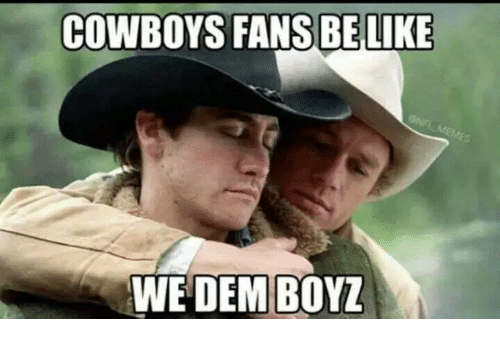 Memes, We Dem Boyz, and Cowboy: COWBOYS FANS BE LIKE  WE DEM BOYZ