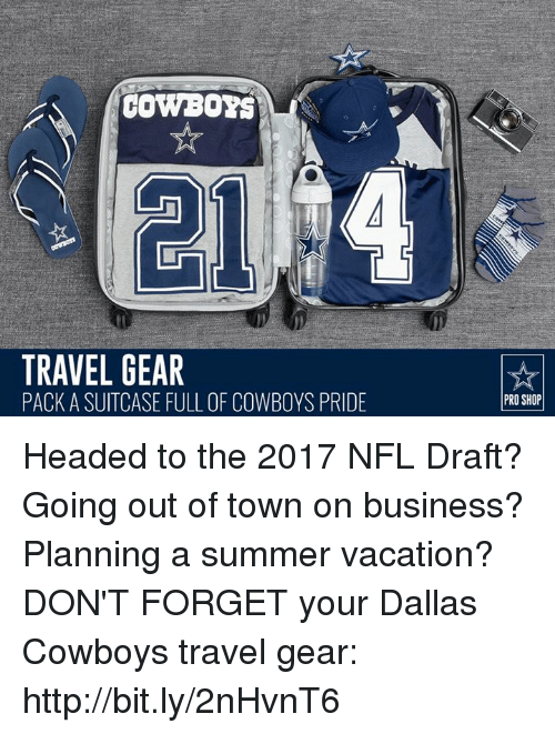 COWBOYS TRAVEL GEAR PACK a SUITCASE FULL OF COWBOYS PRIDE PRO SHOP
