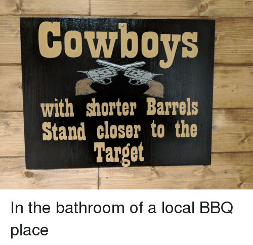 Dallas Cowboys, Funny, and Target: Cowboys  with shorter Barrels  Stand closer to the  Target