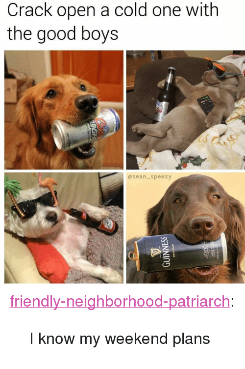 """Tumblr, Blog, and Good: Crack open a cold one with  the good boys  asean_speezy <p><a href=""""http://friendly-neighborhood-patriarch.tumblr.com/post/163424659532/i-know-my-weekend-plans"""" class=""""tumblr_blog"""">friendly-neighborhood-patriarch</a>:</p>  <blockquote><p>I know my weekend plans</p></blockquote>"""