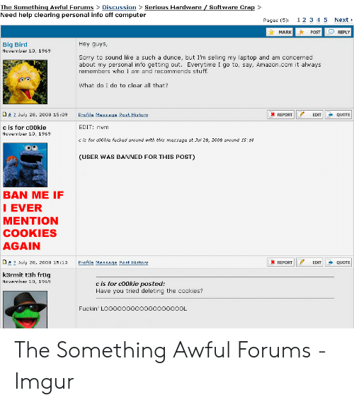 Crap> the Something Awful Forums Discussion> Serious