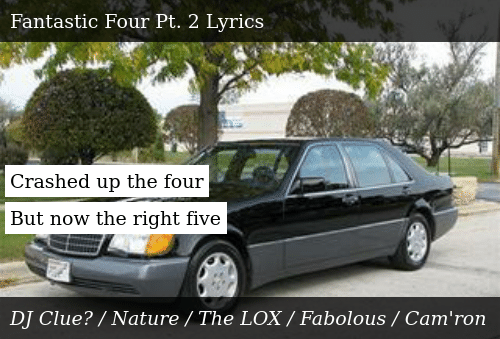 SIZZLE: Crashed up the four  But now the right five