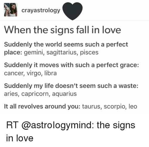 The signs of falling in love