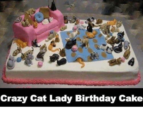 Birthday Cats And Crazy Cat Lady Cake