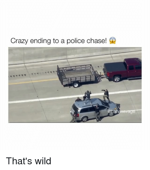Crazy Ending To A Police Chase! Ah That's Wild