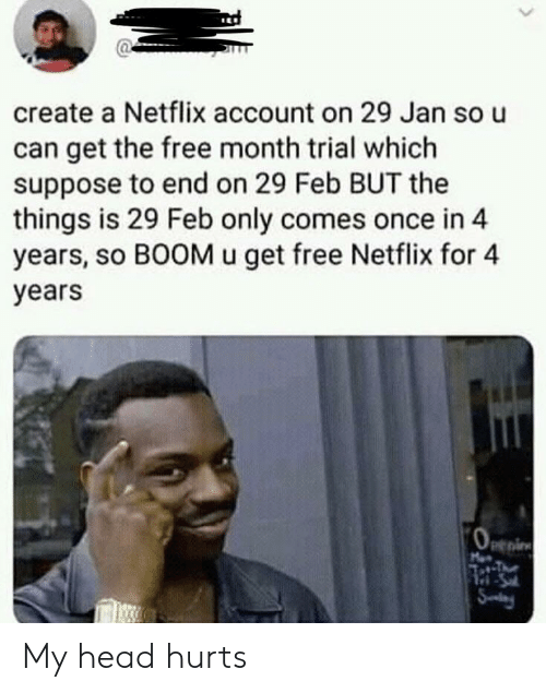 Create a Netflix Account on 29 Jan So U Can Get the Free