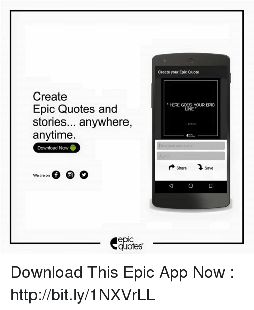 Create Epic Quotes And Stories Anywhere Anytime Download Now We Are Adorable Create Quotes App