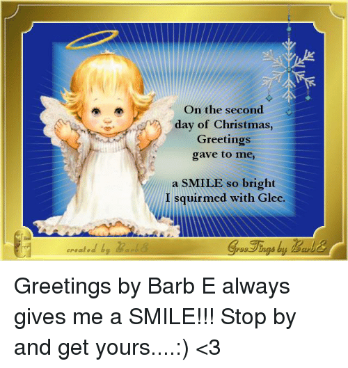 Second Day Of Christmas.Created B On The Second Day Of Christmas Greetings Gave To