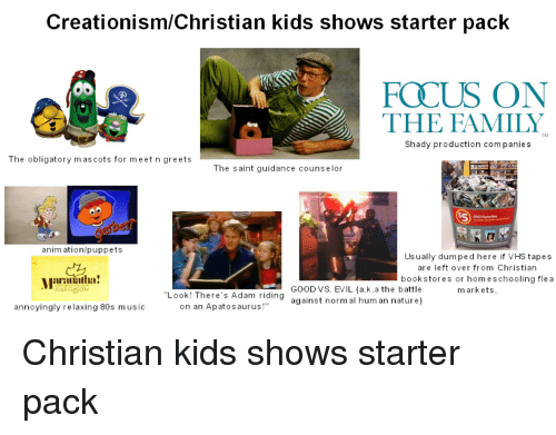 CreationismChristian Kids Shows Starter Pack FOCUS ON THE