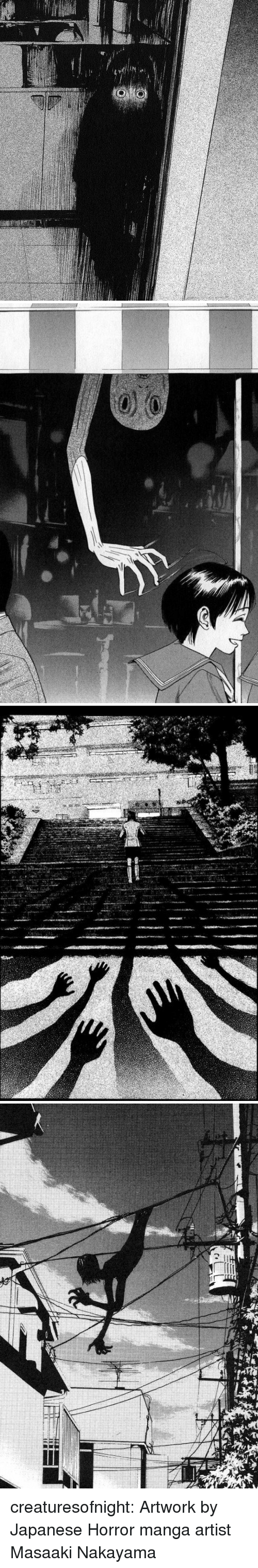 Tumblr, Blog, and Manga: creaturesofnight:  Artwork by Japanese Horror manga artist Masaaki Nakayama