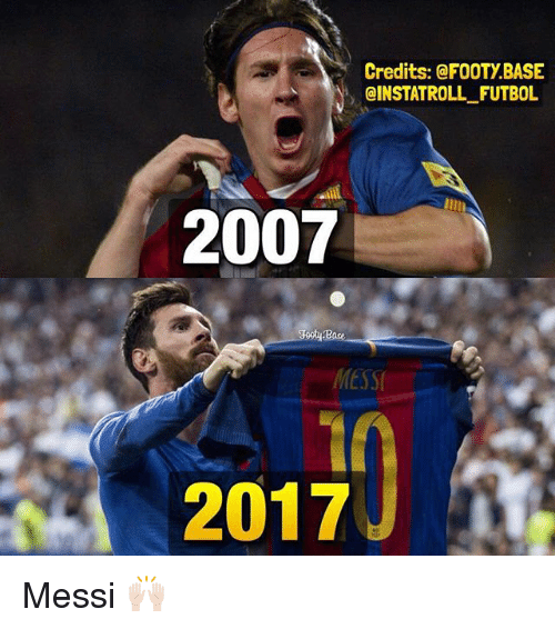 credits a footy base cinstatroll futbol 2007 base 2017 messi 21315352 ✅ 25 best memes about messi messi memes