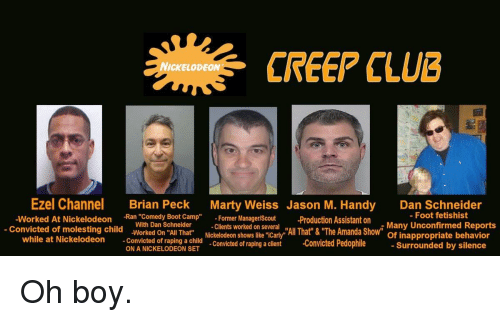 Creep Club Nickelodeon Ezel Channel Worked At Nickelodeon Brian