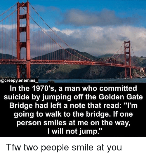 in the 1970's a Man Who Committed Suicide by Jumping Off the Golden