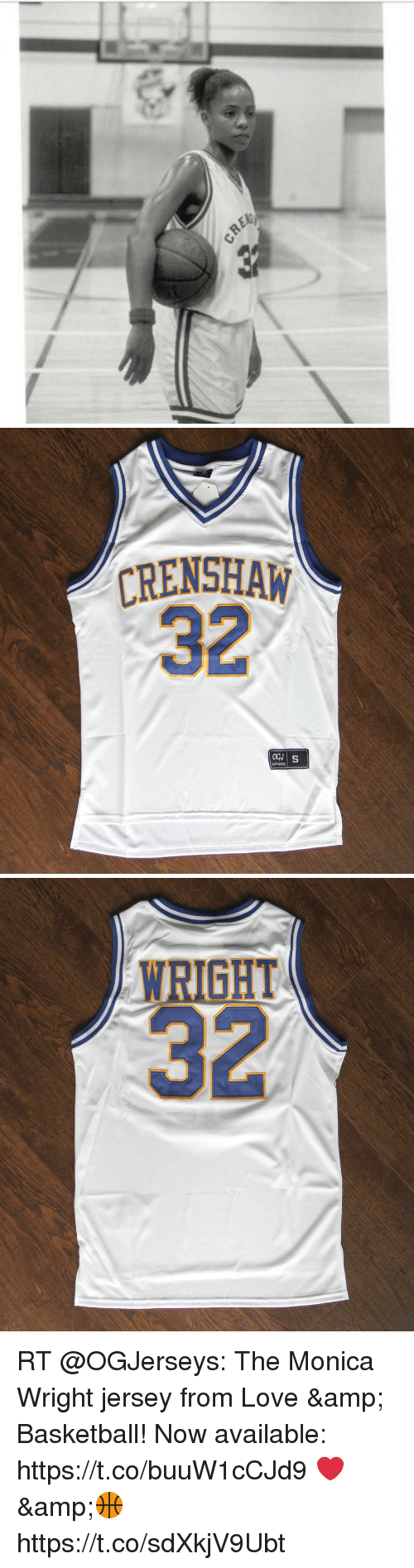 CRENSHAW 32 AUTHENTC WRIGHT 32 RT the Monica Wright Jersey From Love ... 5b64e3c9bb