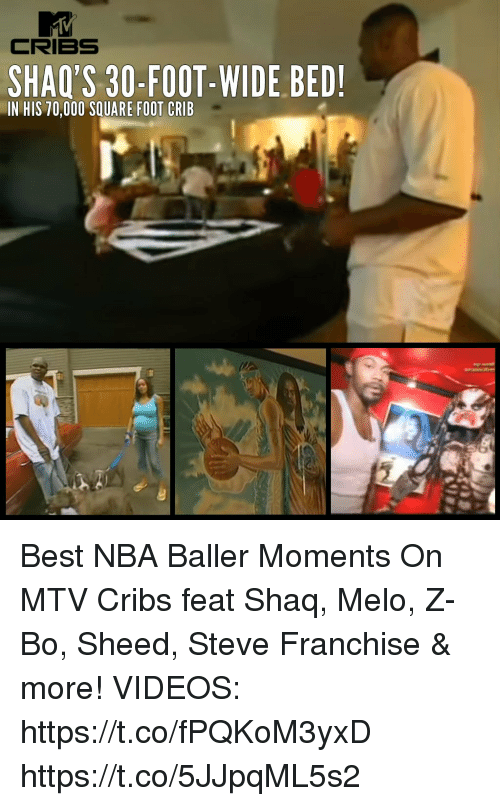 CRIBS SHAQ'S 30-Foot- WIDE BED! IN HIS 70000 SQUARE FOOT ...
