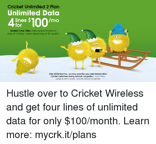 Cricket Unlimited 2 Plan Unlimited Data Mo Lines For