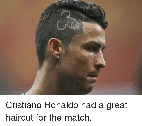 Haircut Soccer And Haircuts Cristiano Ronaldo Had A Great For The Match