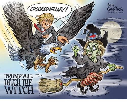 Image result for crooked hillary ben garrison witch