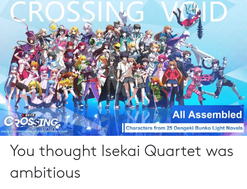 CROSSING VOID All Assembled CROSSING Characters From 25 Dengeki