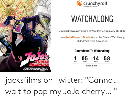 Crunchyroll EVERYTHING ANIME WATCHALONG JoJo's Bizarre Adventure at