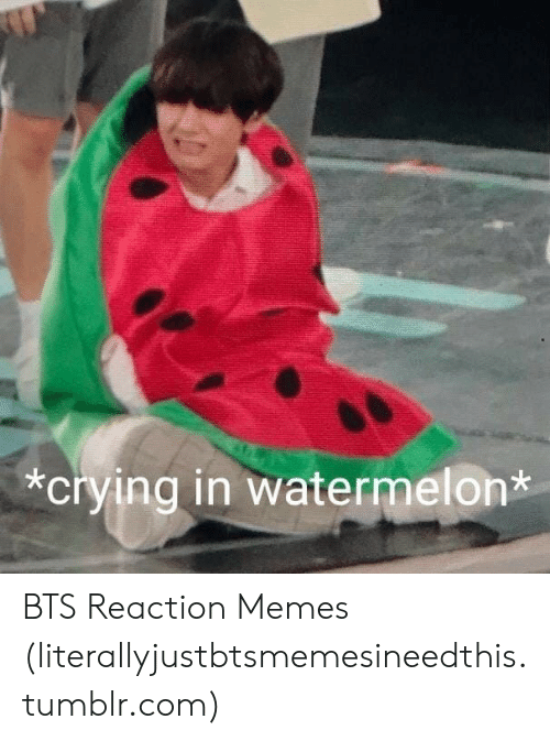 Crying In Watermelon Bts Reaction Memes