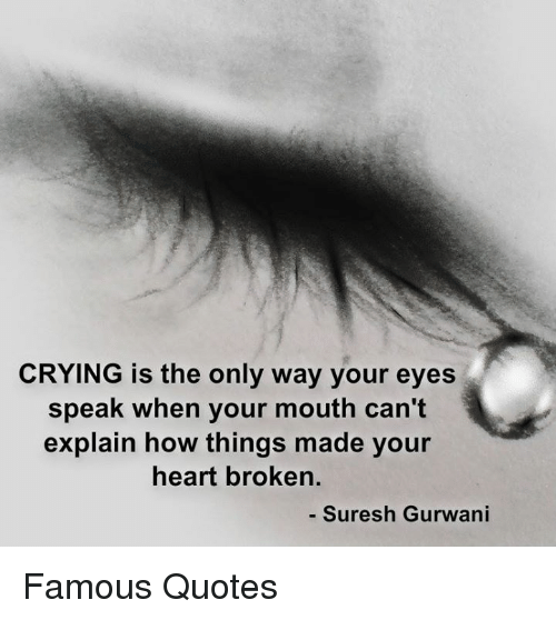 Crying Is The Only Way Your Eyes Speak When Your Mouth Cant Explain