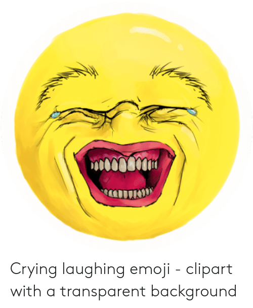 Crying Laughing Emoji - Clipart With a Transparent